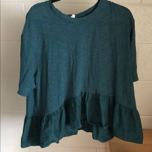 Green Anthropologie Top